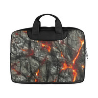 "Red fire, black stone fantastic abstract texture Macbook Air 11""(Two sides) 