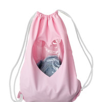Transparent Heart Pastel Pink Backpack