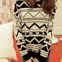 Aztec Loose Sweater from Tulita