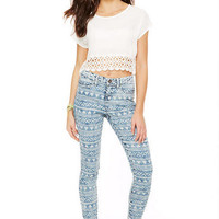 Liv High-Rise Jegging in Washed Down Aztec