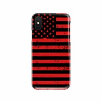 American Flag Black & Red Slim Phone Case (iPhone & Samsung, 20+ Phone Models Available)
