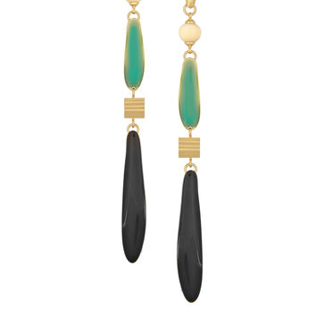 Isabel Marant - Gold-plated resin earrings