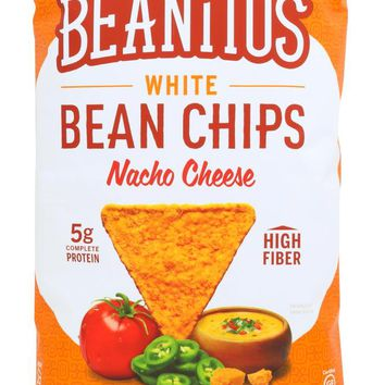 BEANITOS: White Bean Chips Nacho Cheese, 6 oz