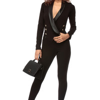 Cebrity Over Night Black Body Con Jumpsuit