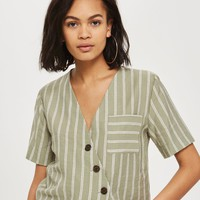 Striped Linen Shirt | Topshop