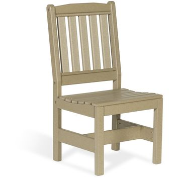 Leisure Lawns Amish Made Recycled Plastic Garden Chair w/out Arms Model #920S - Ships FREE within 2 to 3 Weeks