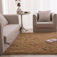 40X60cm Fluffy Rugs Bathroom Carpet Anti-Skid Shaggy Area Home Bedroom Carpet Floor Mat 9 Colors