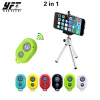 YIFUTE 2in1 Phone holder For Xiaomi mi6 for iPhone Samsung huawei Stand pop socket popsocket Tripod Wireless Bluetooth Remote