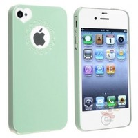 Everydaysource Compatible with Apple Iphone 4/ 4S, Mint Green Sweet Heart Snap-on Case
