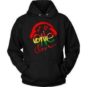 Jamaica One Love Reggae Carribean Music Pride Flag Hoodie