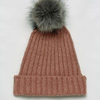 Pieces Pom Beanie In Rose at asos.com