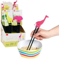 DCI Safari Stix Animal Chopsticks Holders, Assorted Giraffe and Elephant