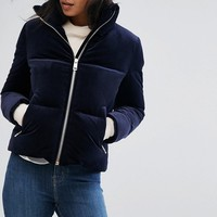 Tommy Hilfiger Velvet Down Padded Jacket at asos.com