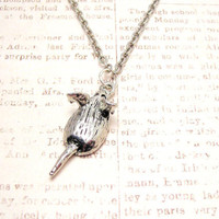 Rat pendant necklace by CorsoStudio on Etsy