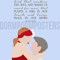 The Notebook Dorm Room Poster Print