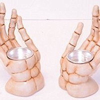 Halloween Skeleton Hand Votice Candle Holder- 6.1""