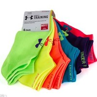 Under Armour Womens Neon Liner Socks 6 Pack U226-NEO/AST-MD