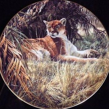 W.S. George Fine China Mountain Lion Collector Plate Last Sanctuary JOHN SEEREY-LESTER