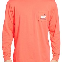 Men's Vineyard Vines 'Whale Hot Sauce' Long Sleeve Pocket T-Shirt,