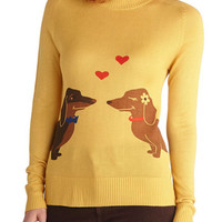 Wiener Takes It All Sweater | Mod Retro Vintage Sweaters | ModCloth.com