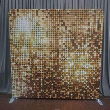 """8 x 8 Straight Tension Fabric Printed Backdrop - """"Gold Sparkle"""" - Pattern"""