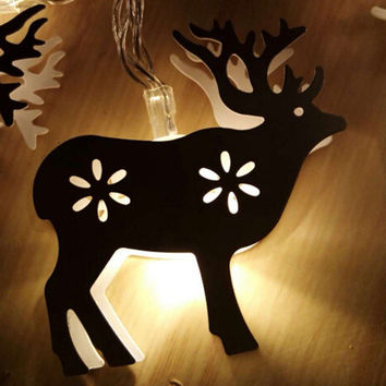 Christmas Cartoon lanterns string Milu deer shape Cartoon elk lanterns Home Decorations Festive Supplies Christmas Decorations