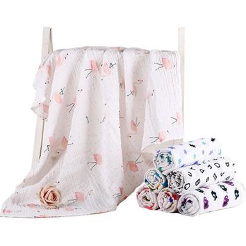 Baby Muslin Blankets Swaddle Cotton Soft Newborn Baby Bath Towel Swaddle Blankets MultiFunctions Wrap Blanket Stroller Cover