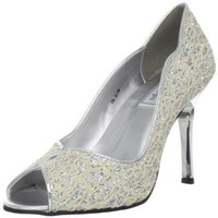 Touch Ups Women`s Ellie Pump,Ivory/Iridescent Glitter,7 M US