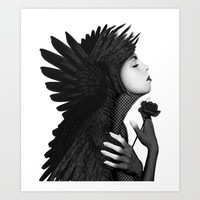 Eloa - The angel of sorrow and compassion Art Print by inspiredimages