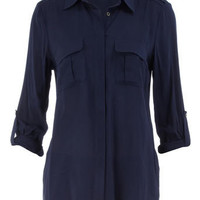 Navy minimal shirt - Fashion Tops - Clothing - Dorothy Perkins