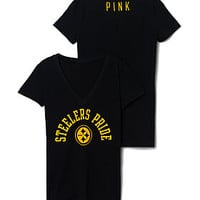 Pittsburgh Steelers V-Neck Tee - PINK - Victoria's Secret