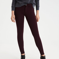 AEO Knit X Hi-Rise Jegging, Raisin Red