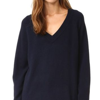 Cashwool Deep V Sweater