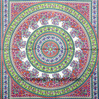 Indian Mandala Tapestry, Hippie Tapestries, Tapestry Wall Hanging, Wall Tapestries, Bohemian Bed Spread, Boho Tapestry, Dorm Decor Bedding