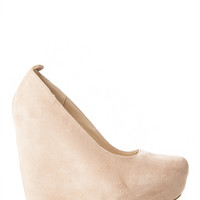 Suede Almond Toe Wedge