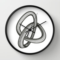 Shape 1 Wall Clock by White Print Design