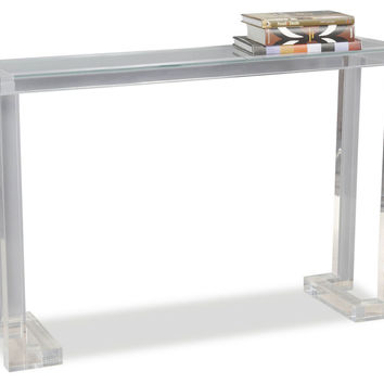 Delightful Console Ainsley Acrylic, Acrylic / Lucite, Console Table