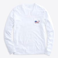 Long-Sleeve Flag Whale 98 Pocket T-Shirt