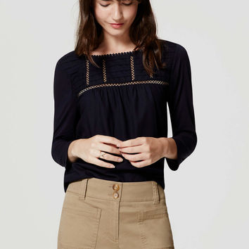 Lacy Pintucked Top