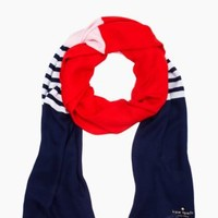 striped colorblocked scarf - kate spade new york