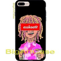 Best New Hot Esskeetit Lil Pump CASE cover iPhone 6s/6s+7/7+8/8+,X and Samsung