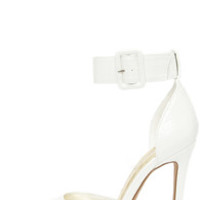 I Need a Heel-o White Pointed Ankle Strap Heels
