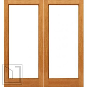 1-lite Interior Brazilian Mahogany IG Glass Double Door