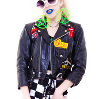 PRE-ORDER: CUSTOM Vintage Renewed Moto Jacket with Your Choice in Patches!