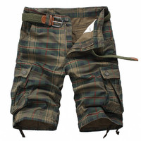 Mens Casual Plaid Shorts