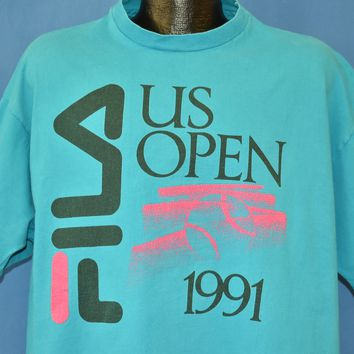 90s US Open 1991 Tennis Competition t-shirt 2XL