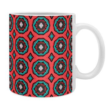 Elisabeth Fredriksson Salty Raspberry Flowers Coffee Mug
