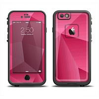 The Pink Geometric Pattern Skin Set for the Apple iPhone 6 LifeProof Fre Case