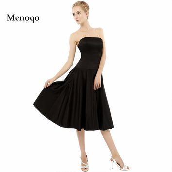 Black Simple A line Strapless Short 8th grade graduation dresses 2017 Factory Real Model Cocktail Homecoming Dress New Arrival