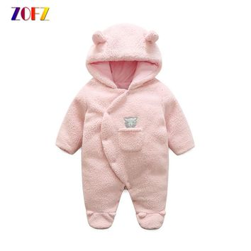 ZOFZ Newborn Baby Rompers for Girls 2017 Long Sleeve jumpsuit Cute baby clothes cotton comfortable clothing for new born bebes